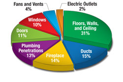 Learn where the air leaks are in your home.